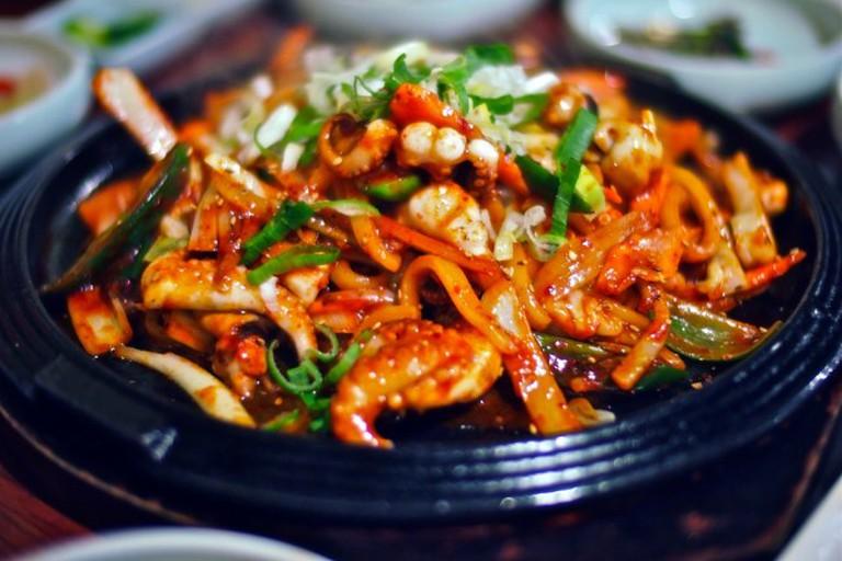 Stir Fried Baby Octopus