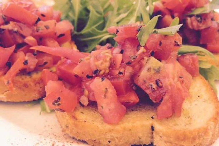 Bruschetta at The Rustic Olive
