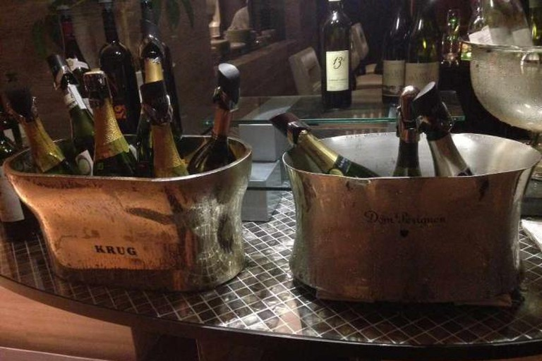 Champagne on ice at Azure 45