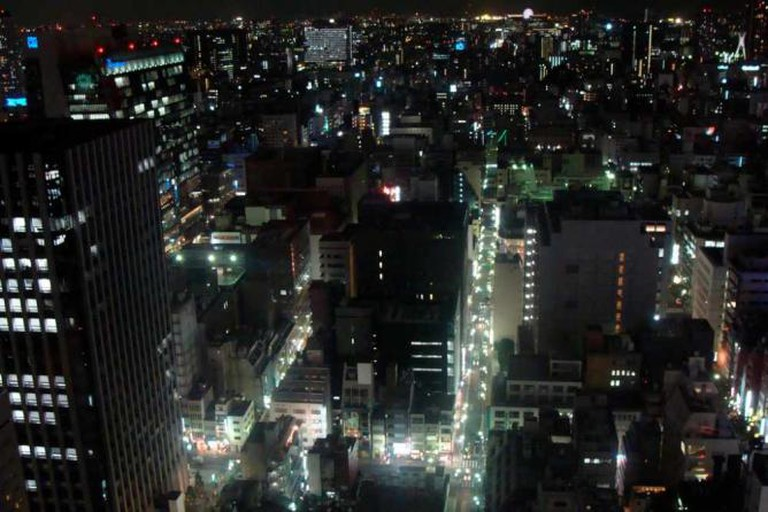View from the 28th floor, Shangri-la hotel, Ginza, Tokyo