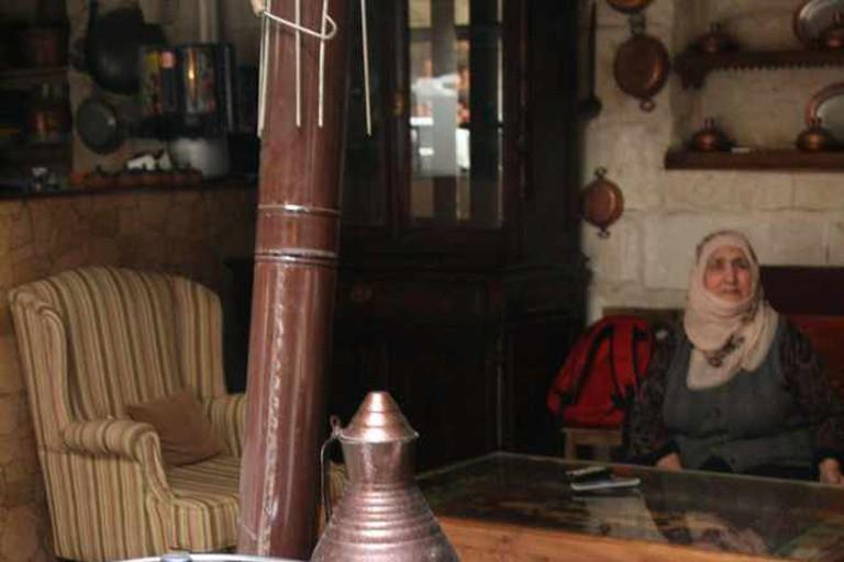 family matriarch at Dibek restaurant, Goreme