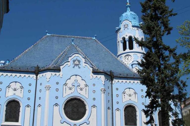 Bratislava's famous blue church