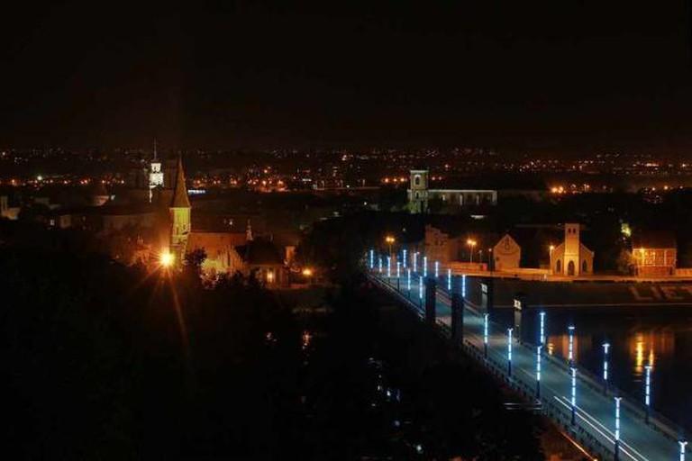 A view of Kaunas at night