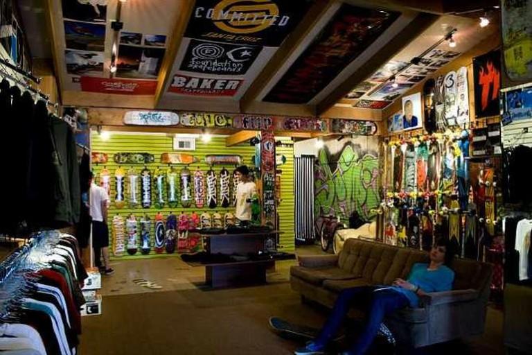Skate People in a Skate Shop