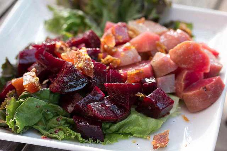 Grilled Beet Salad at The Farm House