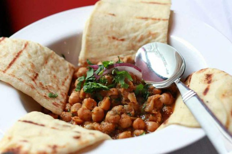 Chana masala with naan