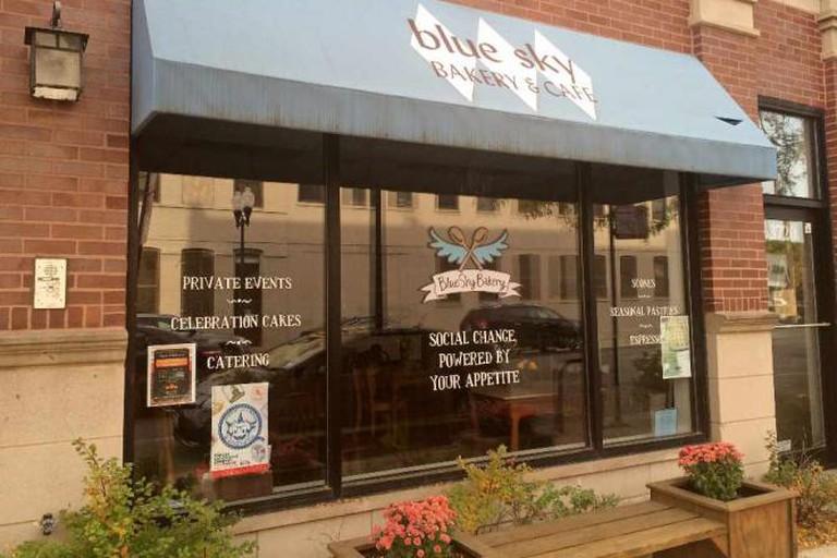 Outside of Blue Sky Bakery