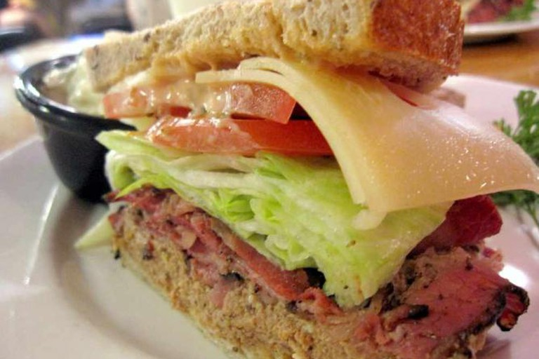 Sandwich served