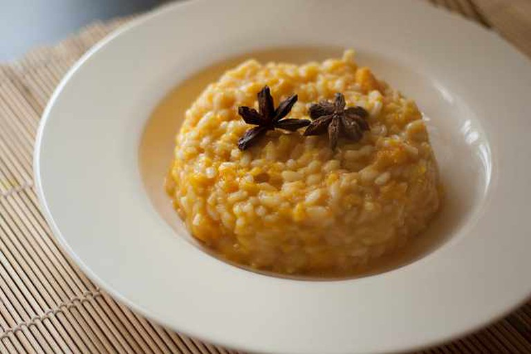 Risotto with pumpkin and star anise