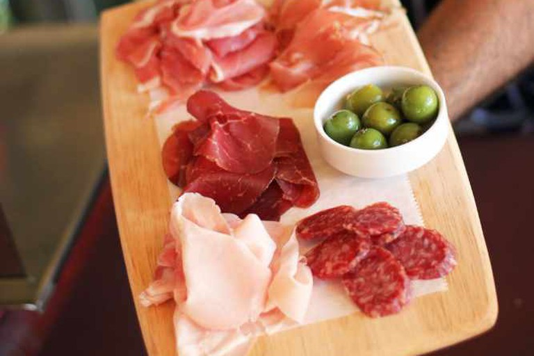 Salumeria 104 specializes in Italian dishes