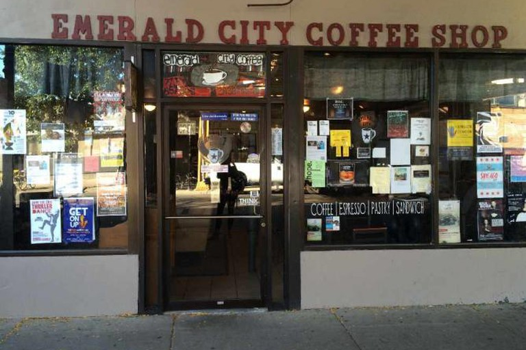 Outside of Emerald City Coffee Shop