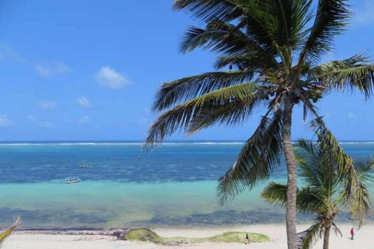 Ocean front of Nyali Beach