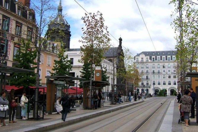 A tramway in Clermont-Ferrand