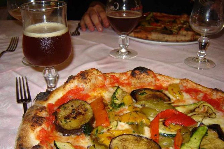 Birra e pizza