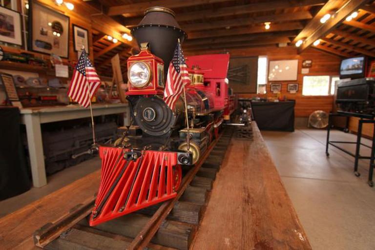 Carolwood Pacific train at Walt Disney Carolwood Barn
