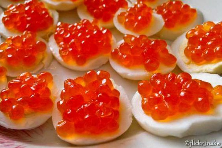 Caviar Egg Appetizers