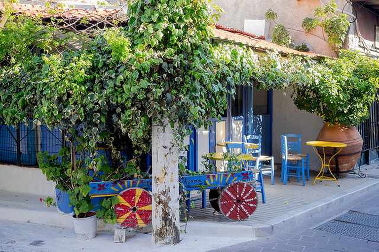A typical cafe in Mitilini, Lesvos Island
