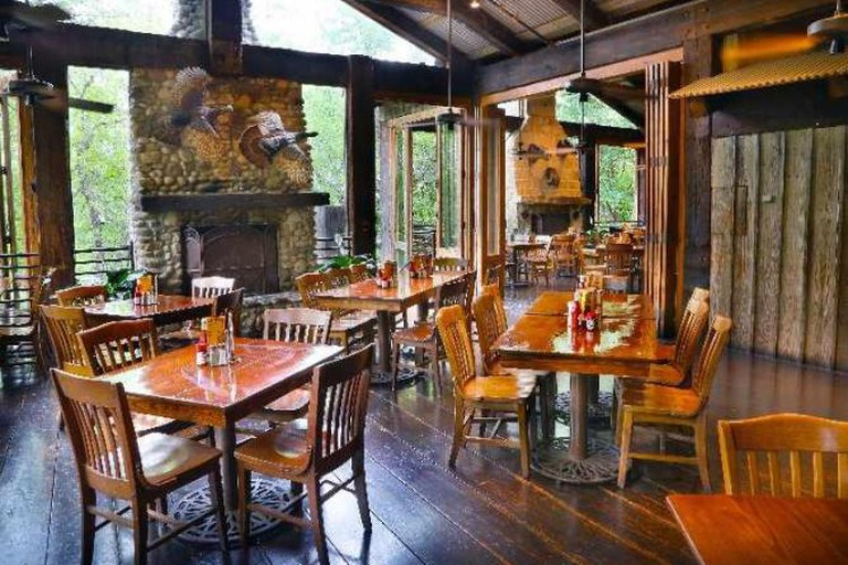 Interior of Gristmill River Restaurant