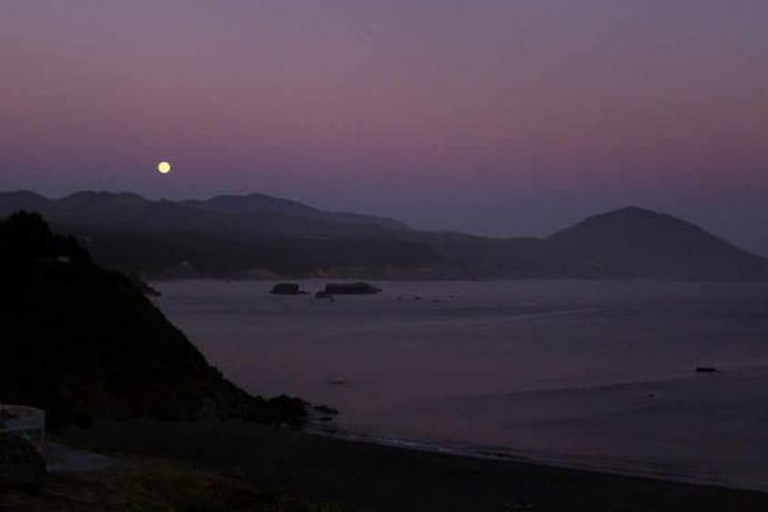 Moonrise in Port Orford, OR