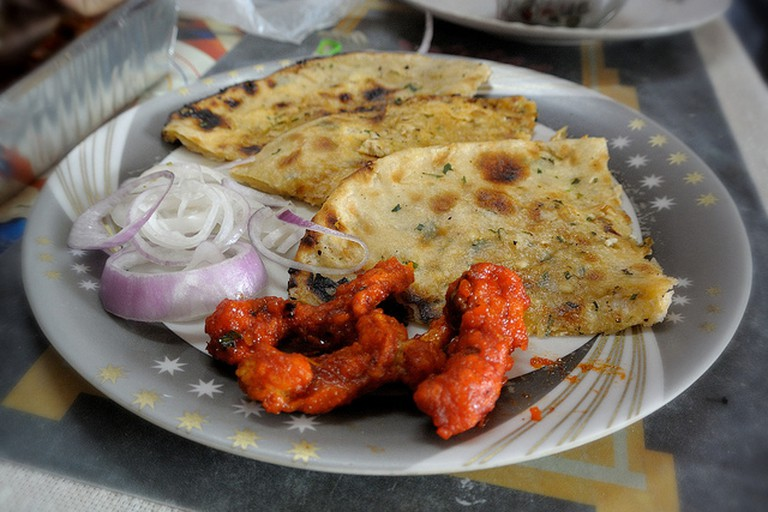 Crunchy Honey Dipped Chicken + Paneer Kulcha