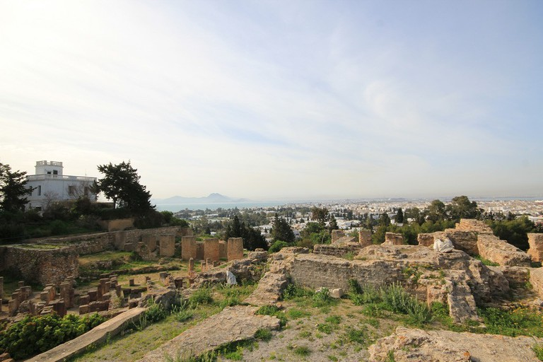 A view of Carthage, Tunisia