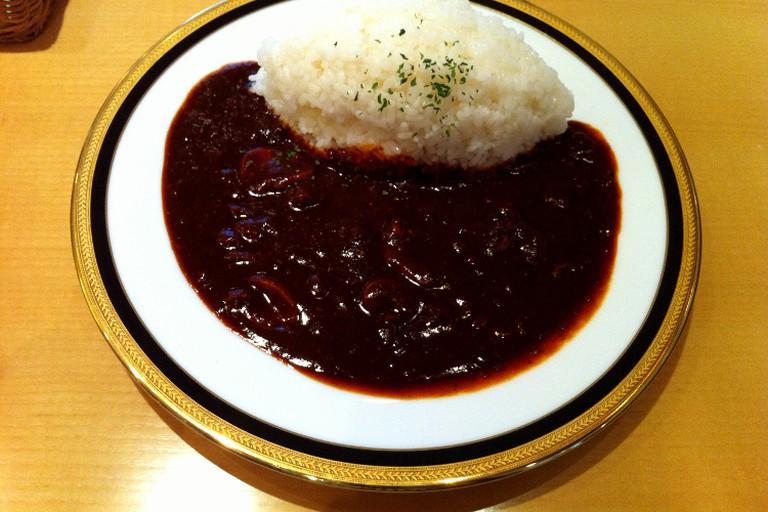 Hayashi rice at Maruzen café, Nihonbashi