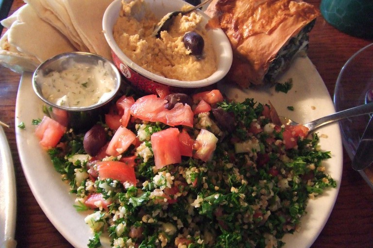 Middle-eastern Platter at High Level Diner