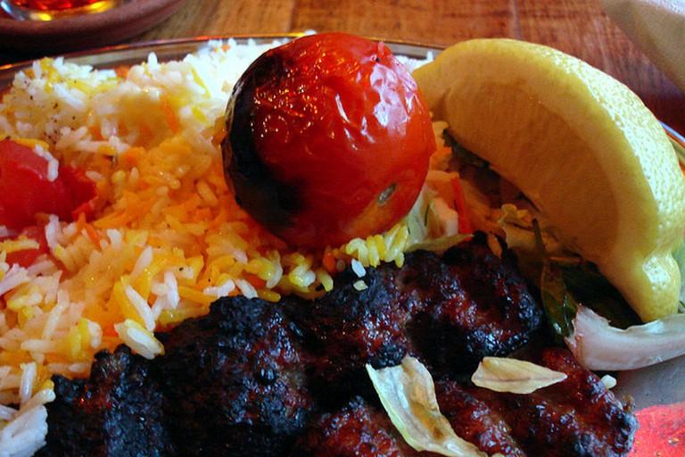 Kabab Koobideh with Persian Rice