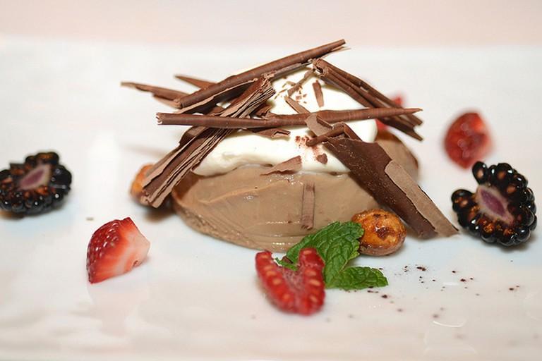 Valhrona Chocolate-Caramel Pot de Creme medium res