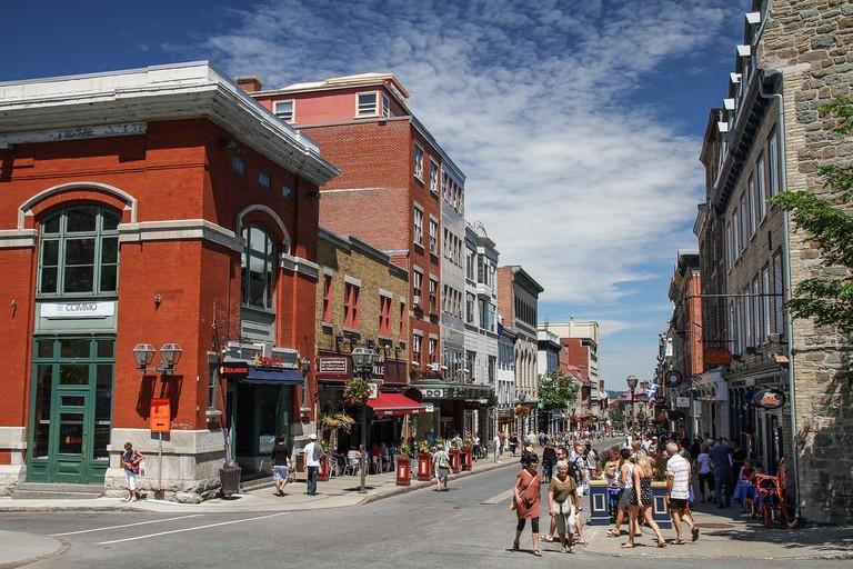 A street in Rue Saint-Jean, Québec