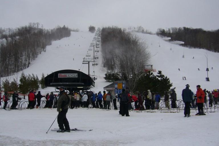 Ski slopes at Blue Mountain