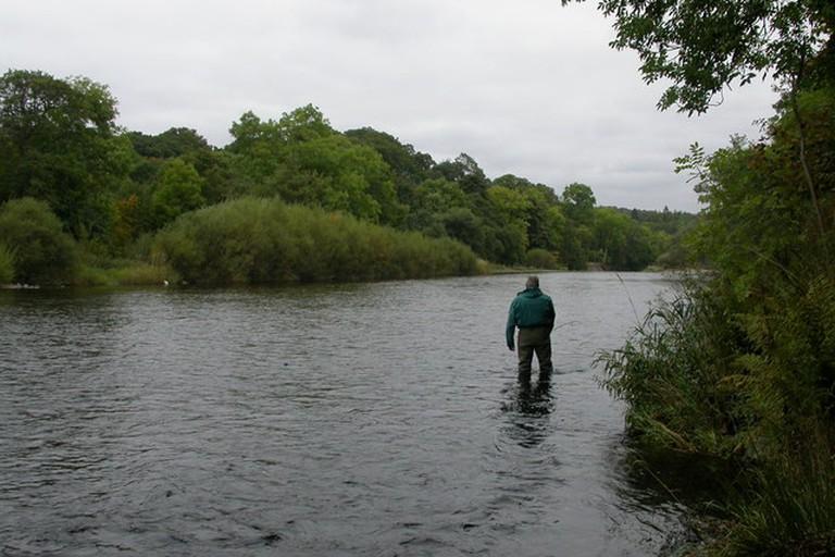 Riverside angler