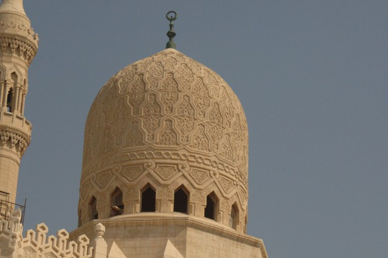 Abu abbas al mursi mosque in alexandria egypt