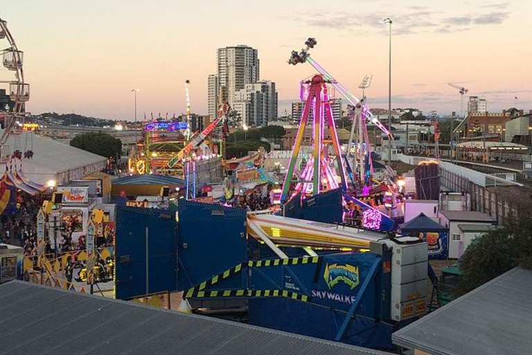 Sideshow Alley at dusk, Ekka, Brisbane
