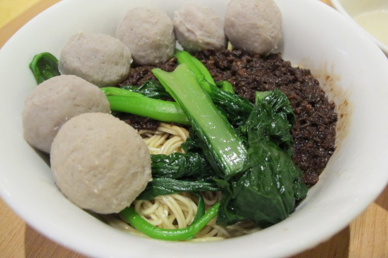 Beef ball noodles at Hutong, Lot 10, KL
