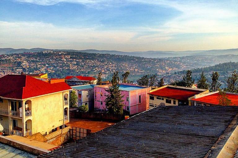 Sunrise over Kigali, Rwanda