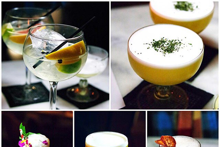 Cocktail collage from The Powder Keg