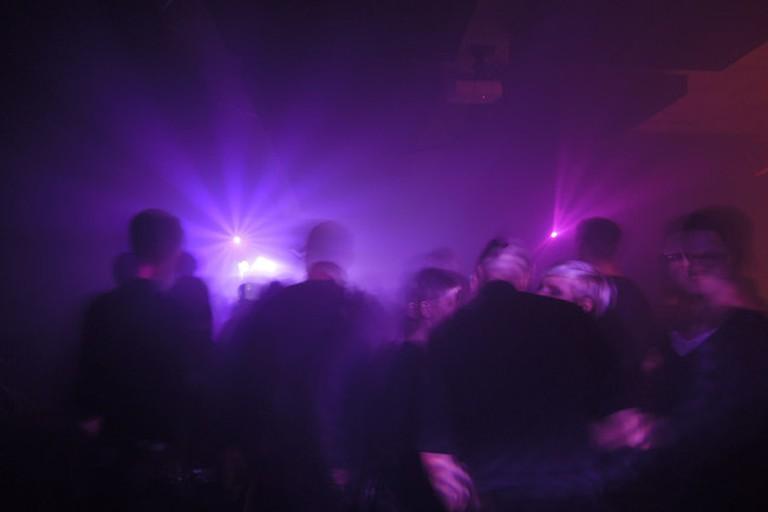 Clubbers in Berlin Nightclub