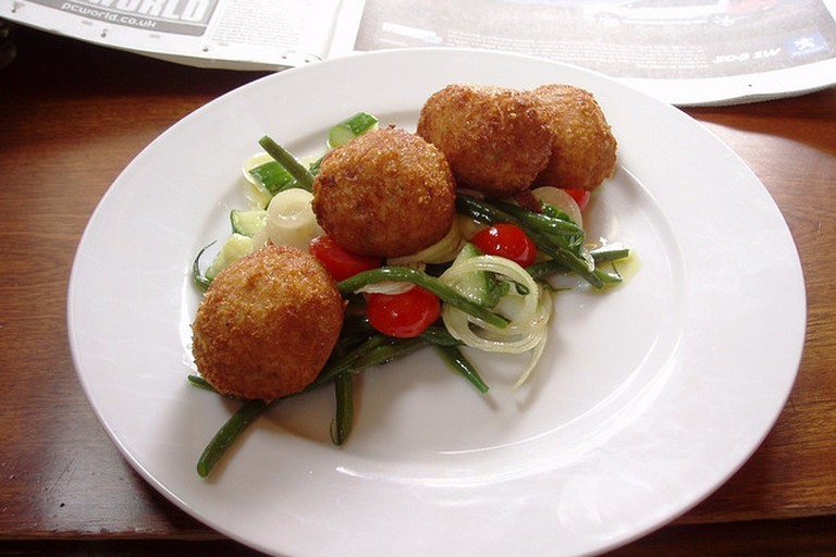 Butternut squash arancini. Ah, more lovely arancini, fried balls of risotto goodness.