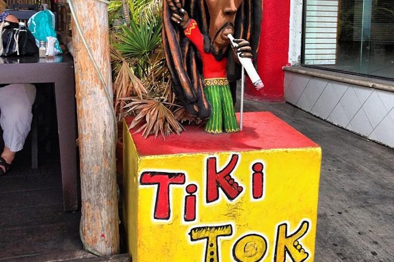 Décor at Tiki Tok