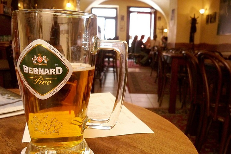 bernard beer, prague cafe