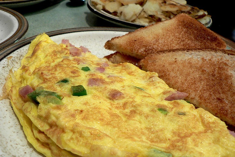 Omelet and Toast