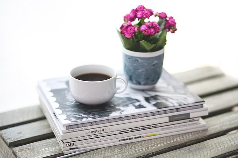 Stack, Newspaper, Magazine, Coffee
