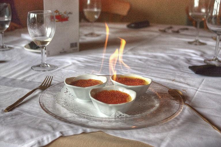 Flaming Crème Brulee