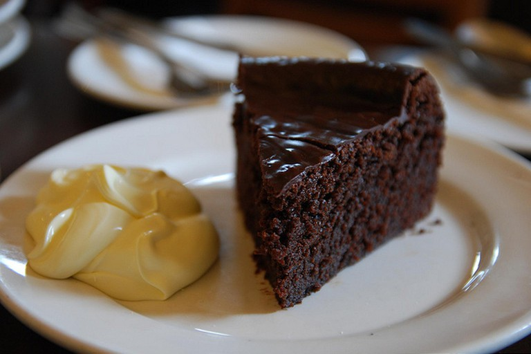 Chocolate Cake with Custard