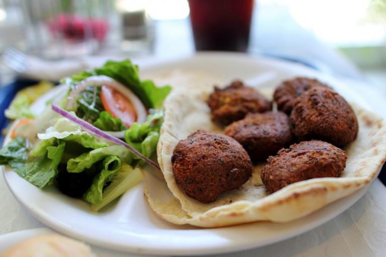 Falafel on Pita