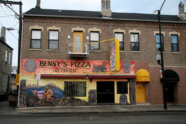Outside view of Benny's Pizza