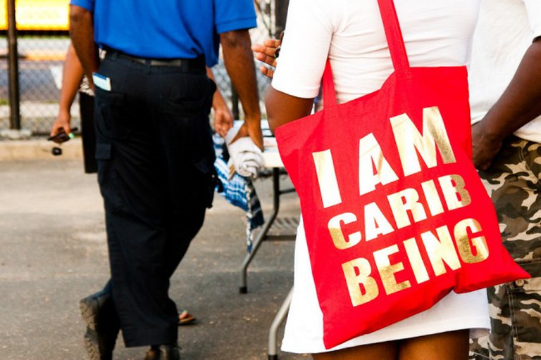 A tote from the I AM CARIBBEING line