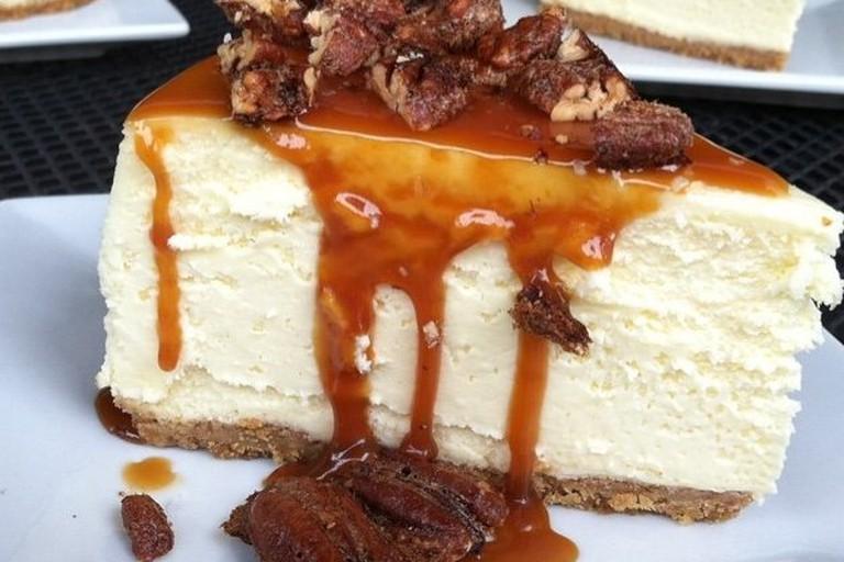 Caramel pecan cheesecake at Anthony's Cheesecake
