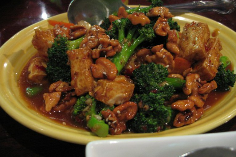 Walnut broccoli tofu at Mandalay